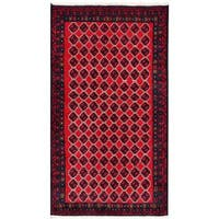 Herat Oriental Afghan Hand-knotted Tribal Balouchi Wool Rug (3'5 x 6'4) - 3'5 x 6'4