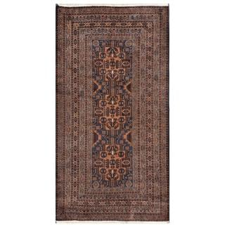 Herat Oriental Afghan Hand-knotted Tribal Balouchi Wool Rug (3'8 x 7'1)