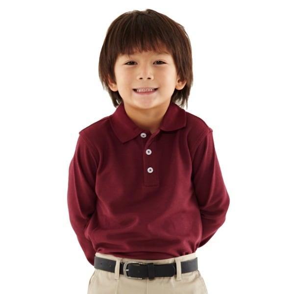 French Toast Toddler Boys Burgundy Pique Polo Shirt Free: burgundy polo shirt boys