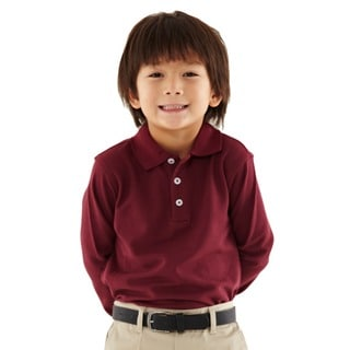 French Toast Toddler Boys Burgundy Pique Polo Shirt