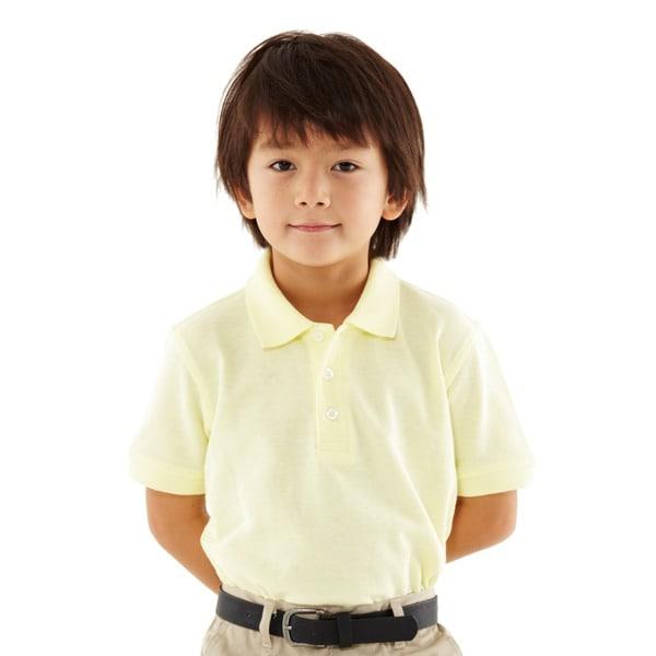 French Toast Toddler Boys' Short Sleeve Yellow Pique Polo Shirt