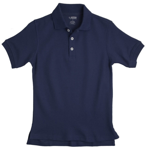 French Toast Toddler Boys Navy Pique Polo Shirt