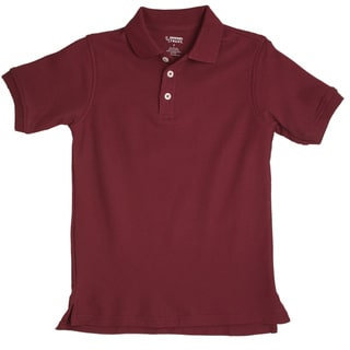 French Toast Toddler Boys Burgundy Short Sleeve Pique Polo Shirt