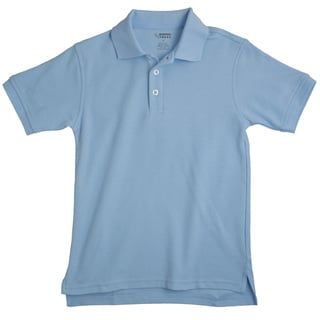 French Toast Toddler Boys' Short Sleeve Blue Pique Polo Shirt