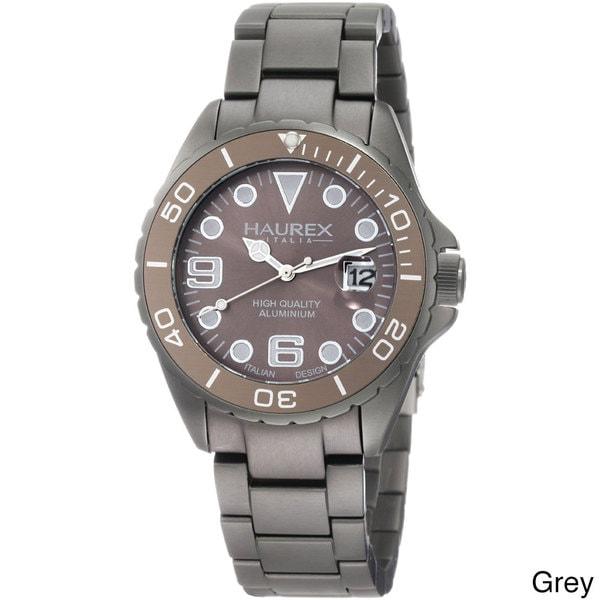 Shop haurex ink women 39 s aluminum date watch free shipping today overstock 8224083 for Haurex watches