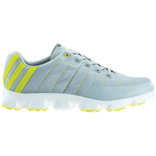 Adidas Men's Crossflex Chrome/ Vivid Yellow Golf Shoes