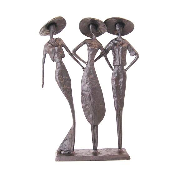 Frienship Lady Trio Aluminum Sculpture
