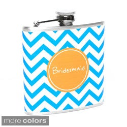 Chevron Bridesmaid Flask