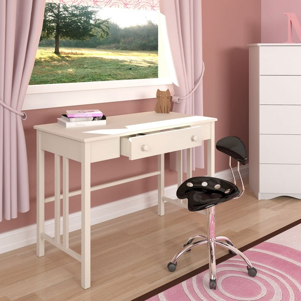 CorLiving White Workspace Desk with Drawer