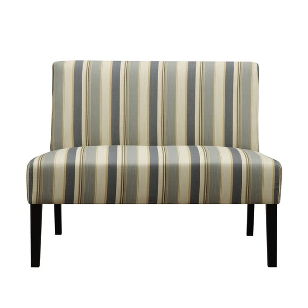 Shop Portfolio Niles Blue Stripe Armless Settee Free