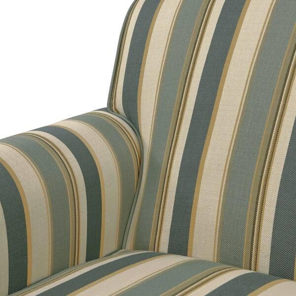 Astounding Shop Handy Living Mira Coastal Blue Stripe Arm Chair And Ibusinesslaw Wood Chair Design Ideas Ibusinesslaworg