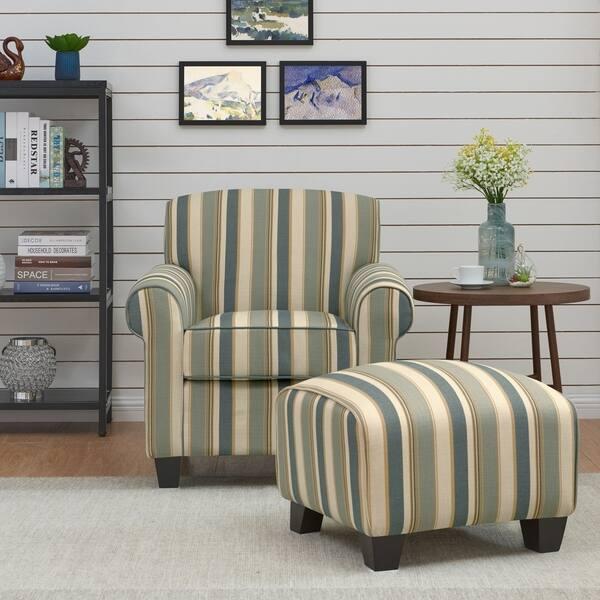 Fine Shop Handy Living Mira Coastal Blue Stripe Arm Chair And Ibusinesslaw Wood Chair Design Ideas Ibusinesslaworg