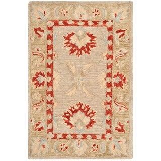 Safavieh Handmade Anatolia Oriental Ivory/ Green Hand-spun Wool Rug (2' x 3')