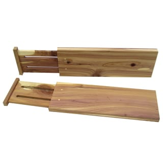 Axis Marketing Cedar Expandable Dresser Drawer Dividers