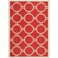 Safavieh Indoor/ Outdoor Courtyard Red/ Bone Rug - 8' X 11'