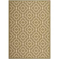 Safavieh Indoor/ Outdoor Courtyard Green/ Beige Area Rug - 8' x 11'