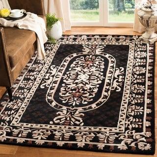 Safavieh Hand-made Naples Black Wool Rug (5' x 8')