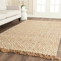 Safavieh Casual Natural Fiber Hand-Woven Sisal Style Natural / Ivory Jute Rug - 9' x 12'