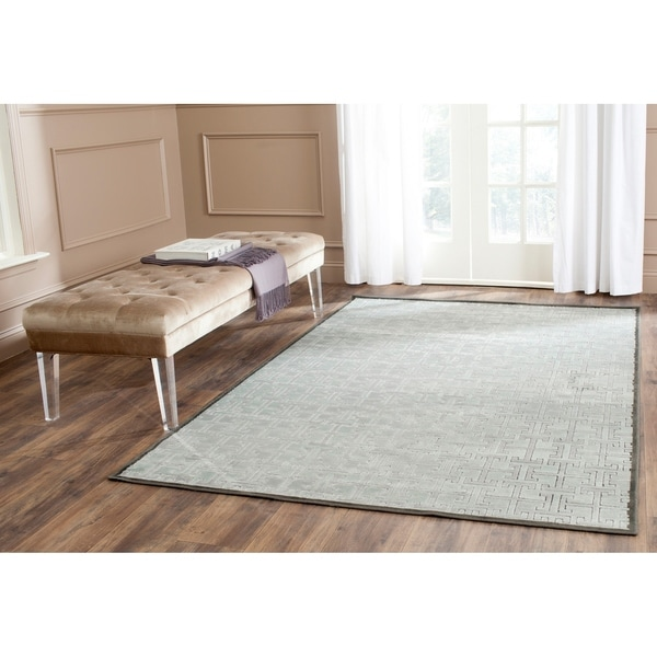 Safavieh Paradise Modern Charcoal Grey Viscose Area Rug - 8' x 11'2
