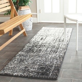 Safavieh Retro Modern Abstract Black/ Light Grey Runner (2'3 x 9')