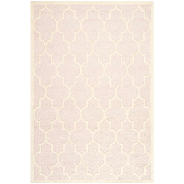Safavieh Cambridge Light Pink/ Ivory Handmade Moroccan Wool Area Rug - 9' x 12'