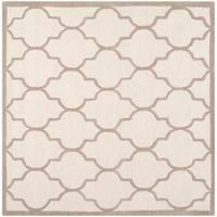 Safavieh Handmade Moroccan Cambridge Ivory/ Beige Wool Area Rug - 8' Square