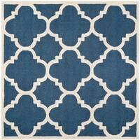 Safavieh Handmade Moroccan Cambridge Navy/ Ivory Wool Rug - 6' Square