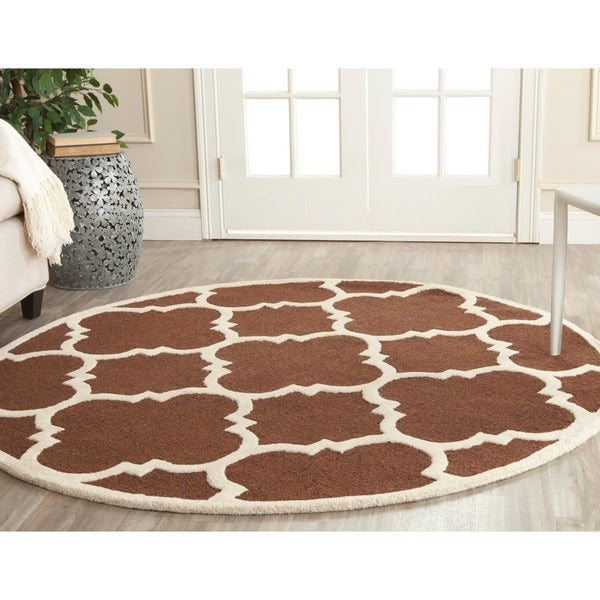 Safavieh Handmade Moroccan Cambridge Dark Brown Ivory