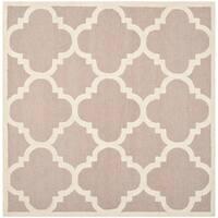 Safavieh Handmade Moroccan Cambridge Beige/ Ivory Geometric Wool Rug - 6' Square