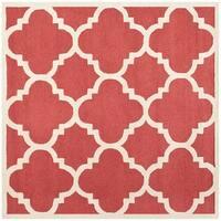 Safavieh Handmade Moroccan Cambridge Rust/ Ivory Wool Area Rug (6' Square)