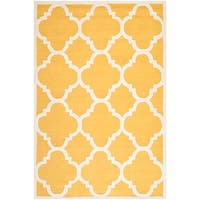 Safavieh Handmade Moroccan Cambridge Gold/ Ivory Wool Area Rug - 8' x 10'