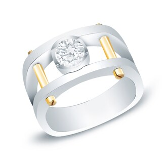 Men's 14k Gold 1ct TDW Diamond Bling Ring by Auriya