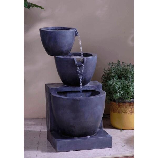 Shop Modern Tier Bowls Indoor Outdoor Water Fountain