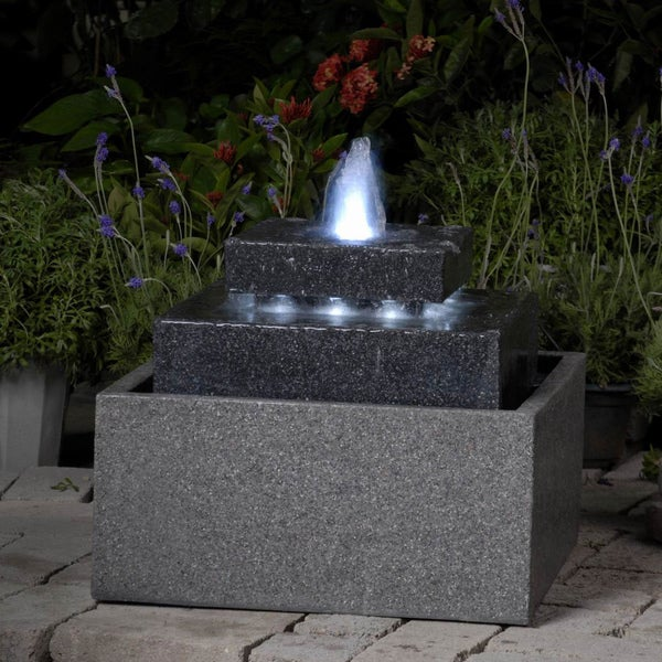 Square Shape With Led Lights Indoor Outdoor Water Fountain Free Shipping Today 8225401
