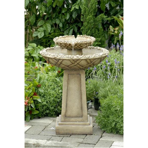 Shop Bird Bath Outdoor Water Fountain - Free Shipping ...