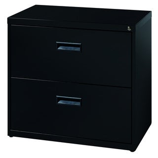 Black 2 Drawer 30 Inch Wide Lateral File