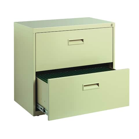 "Space Solutions 30"" Wide 2-Drawer Office Lateral File Cabinet, Putty"