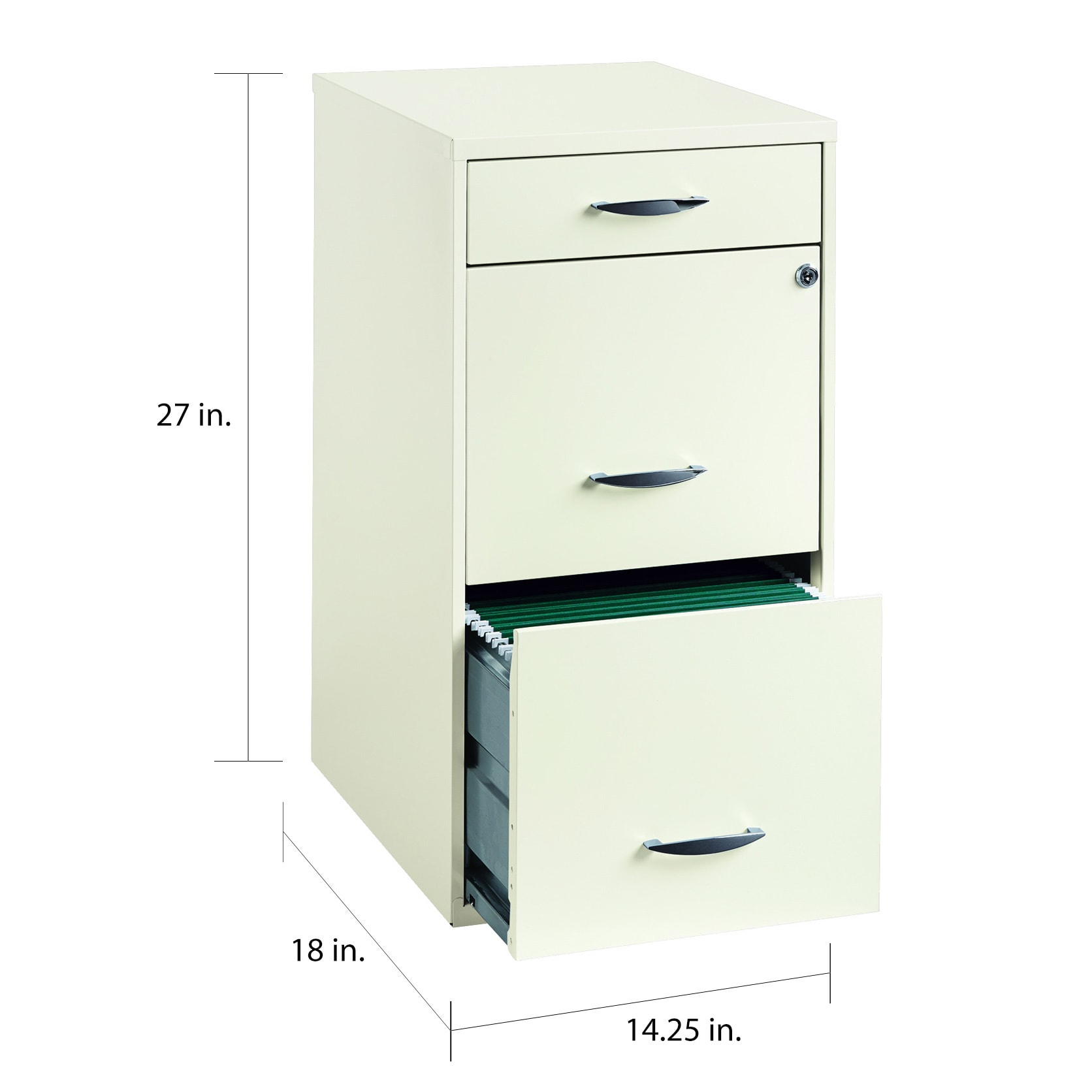 "Space Solutions 344"" Deep 34 -drawer Organizer File Cabinet, Pearl White"