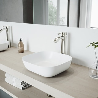 VIGO Otis Bathroom Vessel Faucet in PVD Brushed Nickel