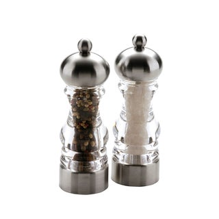 Miu France Stainless Steel and Acrylic Salt and Pepper Mill (Set of 2)