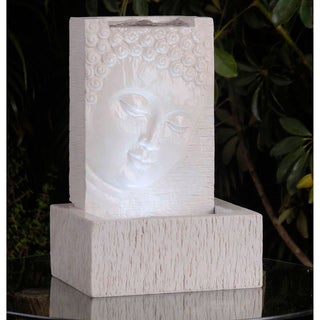 Tabletop LED Lit Buddha Fountain