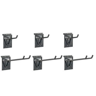 GlideRite Slatwall Double Hooks (Set of 6)