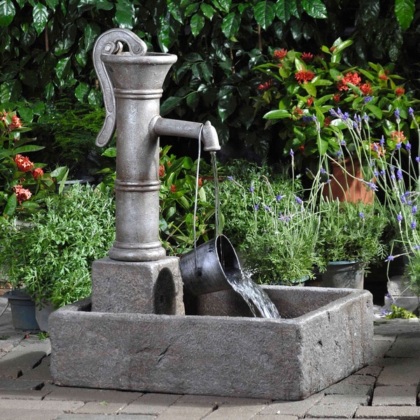 Old fashioned water pump fountains 6