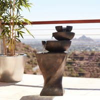 Modern Tiered Bowls Water Fountain