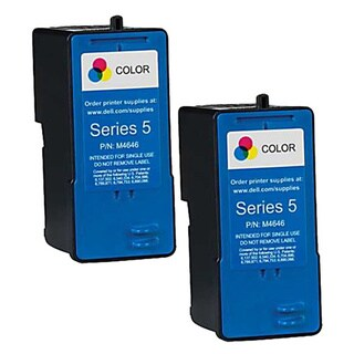 Dell M4646 (Series 5) Color High Yield Compatible Inkjet Cartridge (Pack of 2)