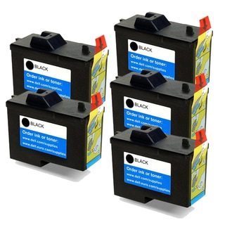 Dell X0502 / 7Y743 (Series 2) Black Compatible Inkjet Cartridge (Pack of 5)