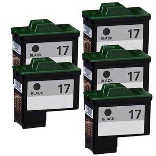 Lexmark #17 10N0017 Black Compatible Ink Cartridge (Pack of 5)