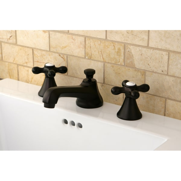 Transitional Oil Rubbed Bronze Widespread Bathroom Faucet