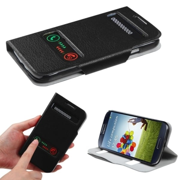 INSTEN Black Book-Style Phone Case Cover for Samsung Galaxy S4 i9500