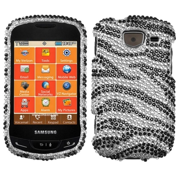 BasAcc Black/ Zebra Skin/ Diamante Case for Samsung U380 Brightside